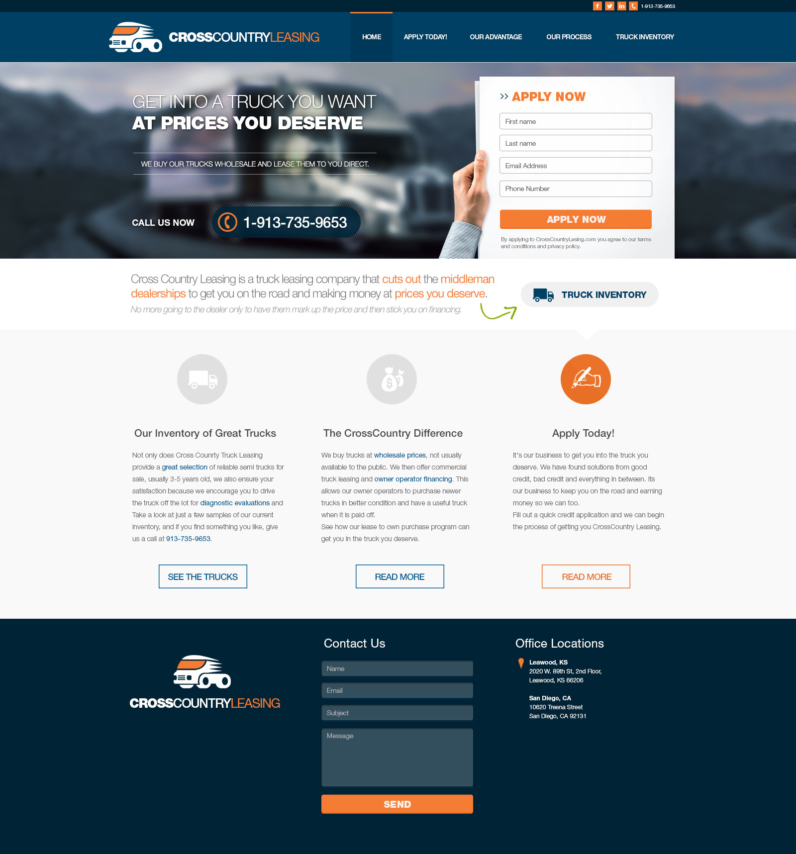 Crosscountryleasing - Homepage 1a