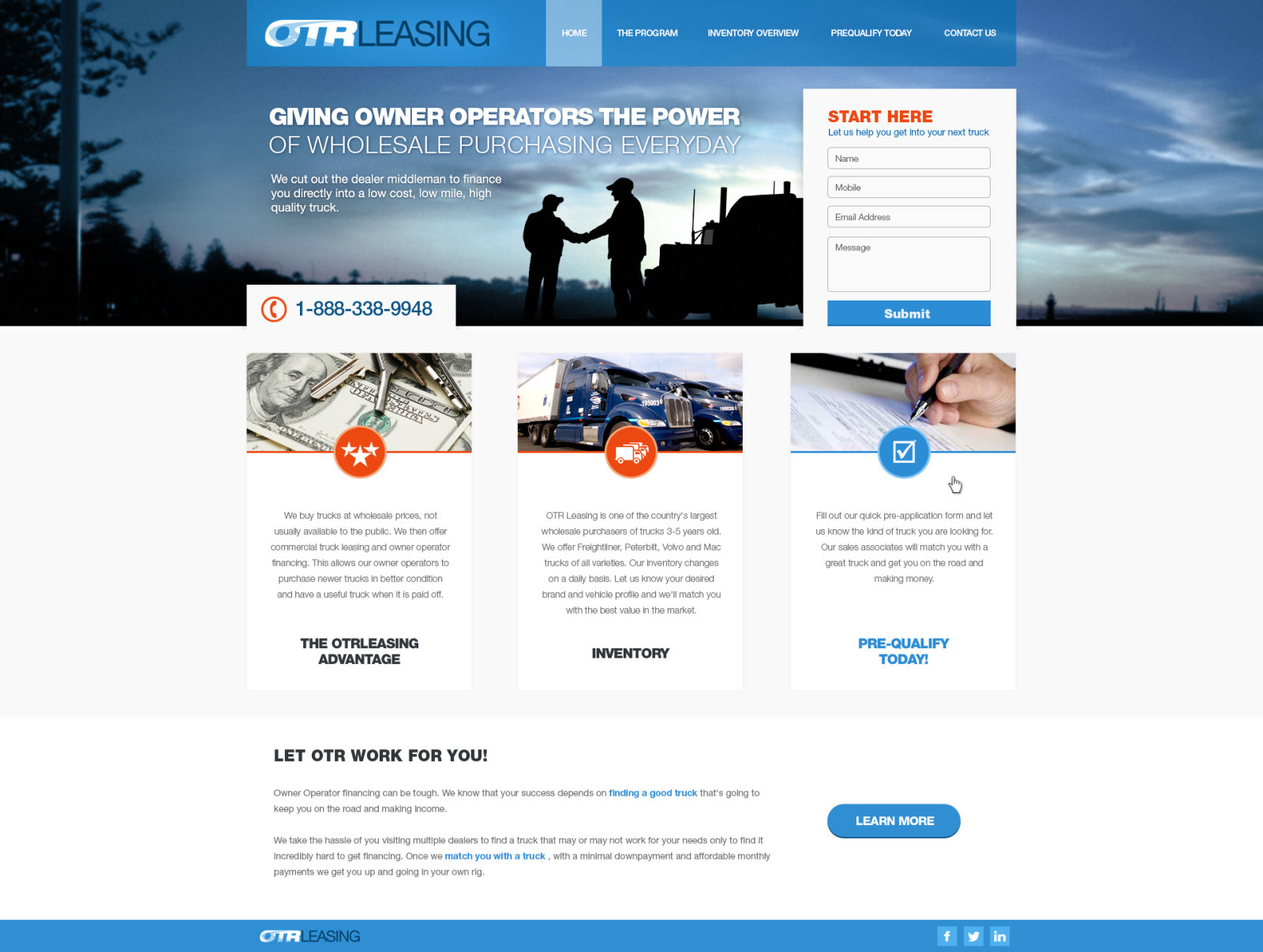 OTRLeasing - Homepage 1a