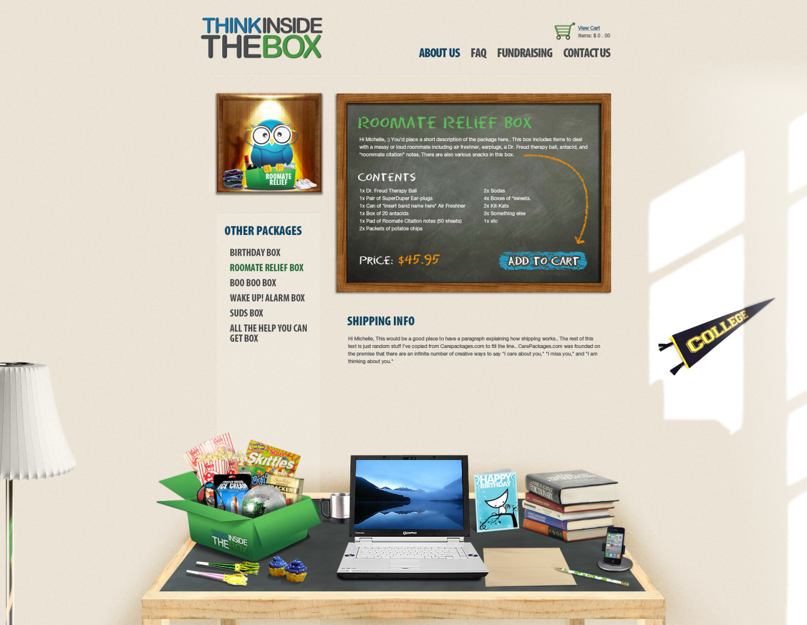 ThinkInsideTheBox - Product Page (NARROW TABLE)